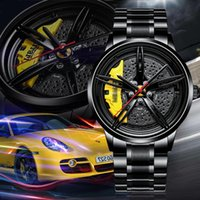 2020 Nektom Men Watch Sports Car Orologio per Automobile Ruota Design Design Automobile in acciaio inox Orologio da polso impermeabile Astuccio Moda Luxury Watch LJ201123