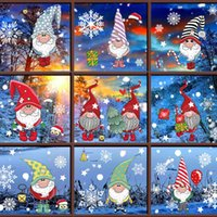 Merry Christmas Decoration For Home Window Stickers Christmas Stickers Glass Noel 2020 Ornaments Xmas Wall Sticker Wall Decals Decoration