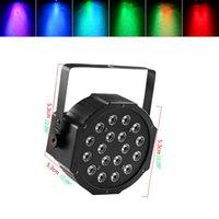 Hot 30W 18-RGB LED AUTO / CONTROLE DE VOZ DMX512 Material Top-Grau Mini Lâmpada Estágio (AC 110-240V) Preto * 4 Partido de Casamento Movendo-se luzes da cabeça