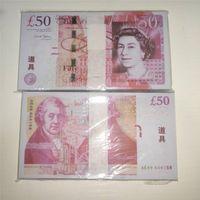 Puntelli P13 Banconote Banconote di qualità Bills Bills British Soldi Car Bar Giocattoli Best Pound Coins Puntelli per bambini Gioca 50 AGUHD WMMFL