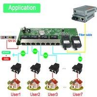 Reverse PoE 10/100 / 1000m Gigabit Ethernet-Schalter Ethernet Faser Optischer Single-Modus 8 RJ45 UTP2 SC-Faser-Port-Board SFP3KM1