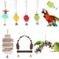 Perroquet jouets en plastique d'oiseau d'oiseau pour animaux de compagnie grimper jouet à mâcher avec cloche suspendue cockatiel perrucheté grimper à mâcher des jouets d'oiseau animal de compagnie