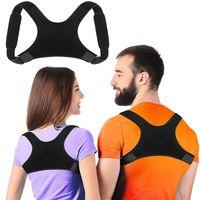 X-Shape ajustável Posture Corrector Clavícula Voltar cinta ombro Suporte Brace Straightener Belt para mulheres dos homens