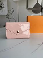 Original 2021 Neue Stil Weibliche Designer Damen Münze Geldbörse Damen Empreitung Lackleder Kurzwallet Brieftasche Kreditkartenhalter Bag Box