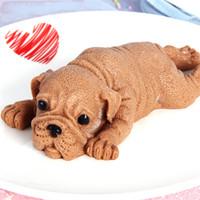 Silikonform für Hund Hübsche Mousse Kuchen 3D Shar Pei-Form Eis Gelee Pudding Blast Cooler Fondant Werkzeug Dekoration DDD3488
