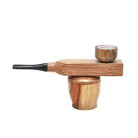 Mini Tuyau de Tuyau de la main en bois de sandal Tuyau de fumer Tuyau de tabagisme Tuyaux de tabac de tabagisme avec groove de stockage de tabac GWF4155