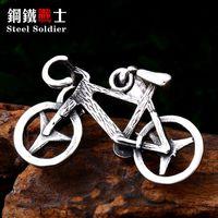 قلادة القلائد الصلب الجندي دراجة الرجال قلادة غير القابل للصدأ رائعة تفاصيل جيدة سلسلة سحر المجوهرات