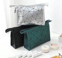المعين حقيبة التخزين التجميل الأزياء سيدة بو ماء 3d سستة أكياس التخزين المحمولة المرأة هندسية المعين حقيبة مستحضرات التجميل WY527Q HB