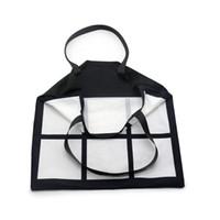 승화 격자 토트 백 빈 흰색 DIY 열 전송 쇼핑 가방 9 패널 헝겊 프라빅 재사용 가능한 저장 선물 가방 핸드백 ZZC2542