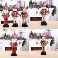 Растяжение кукол Снеговик Санта-Клаус Счастливого Рождества Декор для дома Рождественский орнамент Natal подарок Рождественские декор Новый год 2021 201203