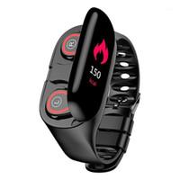 M1 2-in-1 Ai Smart Watch avec écouteur Bluetooth Tarif cardiaque Moniteur Smart Bracelet Long Time Saint Montre Montre Sport Hommes Dernier