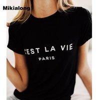 Футболка Женщины 2020 лето Camiseta Mujer с коротким рукавом Poleras Mujer Охладить футболочку Femme Tshirts Париж Tshirts Хлопок Женщины Top