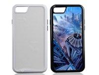 Sublimatie 2 in 1 TPU + PC Tough Dual Case voor iPhone X XS 5S 6S 7 8 Plus met aluminium inserts en lijmvrij