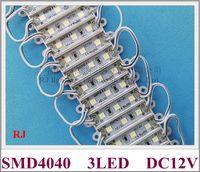 36mm * 09mm SMD 4040 LED-Modul 3 LED-Lichtmodul für Zeichenbrief DC12V SMD4040 3LED 0.9W 100LM IP65 Energieeinsparung
