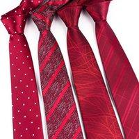 Corbatas del cuello 2021 8cm Red Tie Men Business Body Party Necktie Casual Gravatas Paisley Cuello Accesorios de la camisa