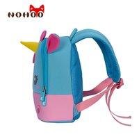 Nohoo School Bags 3D Dibujos animados Mini Unicorn Mochila para niñas Kindergarten Bolsa de libro a prueba de agua para niños lindo Bolsa de regalo LJ200917