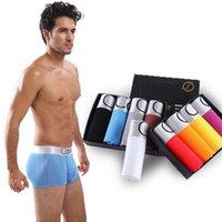 Erkek iç çamaşırı boksörler erkek iç çamaşırı erkekler seksi boksör ipek bambu erkek boxer şort pamuk külot mavi M-XXXL T200216