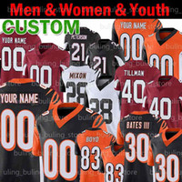 Özel 30 Jessie Bates III Jersey 28 Joe Mixon Tyler Boyd Boomer Esiason Pat Tillman Buda Baker Chankler Jones Erkekler Gençlik Kadın Futbol