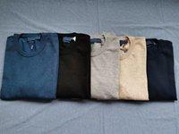 Sweaters para hombre Equipo de cuello redondo MILLA WILE POLO CLÁSICO Bordado Suéter Punto Algodón Casual Jersey Pullover 5 colores