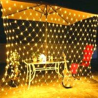 Bestseller 210 LED-Fee-Net Light Mesh Vorhang String Hochzeit Weihnachten Partei-Dekor-warmes Weiß LED Strings