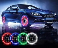 Capve de la vanne de pneumatique de roue de voiture - 15 modes clignotants - Capteurs de mouvement / Système de contrôle intelligent-intelligent pour motocyclette à vélos