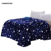 Cammitever Stars Galaxy Blanket Flanel Fleece Sofa à carreaux Jette la couverture à carreaux d'hiver printemps Couverture d'impression 201113