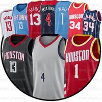 13 Harden 4 Russell 2 John Westbrook Wall Hakeem Ciudad 2021 Olajuwon NCAA Hombres Camisetas de baloncesto