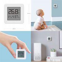 Blaue Zahn Hygrometer Thermometer Intelligenz LCD-Nummern-Anzeige ABS-Haushalt Babys Zimmer-Temperaturmesser Weiß Feuchtigkeitszähler Mode 15xF M2