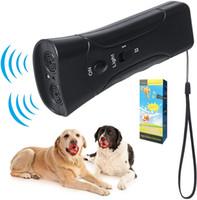 3 in 1 Ultrasonic Led Pet Dog Repeller Stop Bark Dog Training Training Trainer Dispositivo Anti Barking Torcia elettrica 2 colori