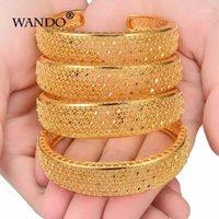 WANDO 4pcs lot Vintage bangle for women bohemian gold color strand classic Ethiopian Bracelet Wedding Accessories Statement b1471