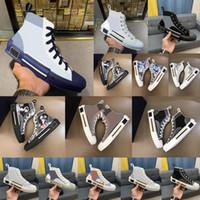 2021 B23 designer sneakers obliques couro técnico alta plataforma de flores ao ar livre sapatos casuais tamanho vintage 36-45