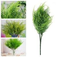 Plastic 7 stelen kunstmatige asperges fern gras plant bloem groen decor bonsai tuin bloemen accessoires huisdecoratie1