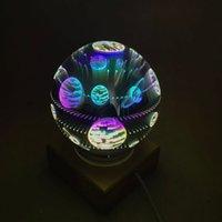 Новая горячая распродажа светодиодные ночные лампы стекло волшебный свет USB творческий дом украшения ночной свет светодиодный светильник звездных неба