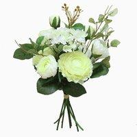 Dekorative Blumen Kränze Künstliche Blume Hochzeit Pfingstrose Hortena Dekoration Grüne Blätter DIY Home Garten Party Dekorieren Braut Blumenstrauß