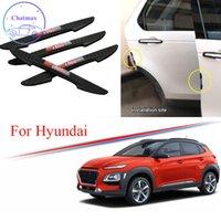 3 Цвета Универсальный для Hyundai Series IX25 IX35 IX45 KONA TUCSON I40 4PCS PVC Автомобиль Антиколансированная полоска Автомобильная дверь Дверной Дверь Бампер Отделка