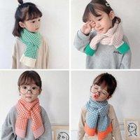Bufanda de patrón geométrico de punto de moda de los hombres, mantenga el invierno en cálido y otoño t9w1