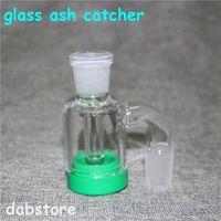 New 14mm Homme verre Catcher Ash avec Bong chario silicone droit de couleurs eau bong bong en verre plate-forme pétrolière pour pipes