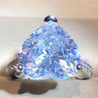 Fedi nuziali moda cristallo a forma di cuore a forma di pietra anello da donna zircone di fidanzamento glamour lusso elegante gioielli partito regalo1