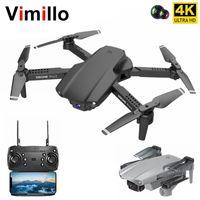 Vimillo E99 Pro2 Mini drones avec caméra HD 4K Professional Dual Caméra WIFI FPV Hélicoptère pliable RC Quadcopter Dron jouets 201221