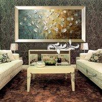 Alta calidad pintada a mano contemporánea enorme decoración abstracta paisaje Flowertree Wall Art Pintura al óleo sobre lienzo Multi Tamaños personalizados