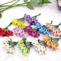 الزهور الزهور أكاليل 144 قطع 3 سنتيمتر مصغرة رغوة كالا زنبق وهمية باقة الاصطناعي لحضور الزفاف الديكور عيد الحب