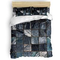 Piastrelle Marble Texture copripiumino caldo e confortevole Bed Sheet Camera Consolatore Set 2/3/4 pezzi Bedding