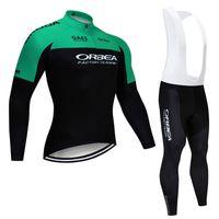 ORBEA 2021 스프링 통기성 사이클링 저지 긴 소매 프로 자전거 밴드 바지 세트 ROPA CICLISMO MENS 사이클 착용 자전거 Maillot S21012968