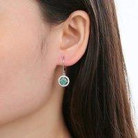 Dangle Chandelier Gem's Ballet Natural Garnet Garnet Emerald Piedra de nacimiento Leverback Pendientes 925 Piedra preciose de plata esterlina para mujeres1