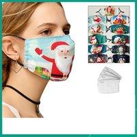 Fasion Weihnachten Baumwolle Gesichtsmaske Waschbare Wiederverwendbare Gesichtsmaske für Erwachsene Kinder Masken Staubfest Dunst Drucken Design Gesichtsmask Stern Stil