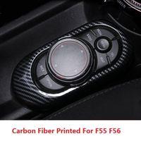 ABS Carbon Fibre d'autocollant de panneau de commande de panneau de commande de panneau de commande pour mini Cooper F55 F56 Accessoires intérieurs1