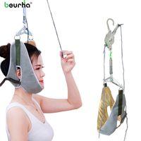 Massaggiatori elettrici Beurha Neck Massager Massaggiatore per il dispositivo di trazione cervicale Kit posteriore Barella Adiustment Chiropratica Rilassamento