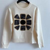 밀라노 활주로 스웨터 2020 긴 소매 넥 여성용 스웨터 하이 엔드 자카드 풀오버 여성 디자이너 스웨터 1021-3