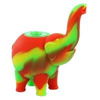 Patrón de elefante único Mini burbujeante Tubos de agua Tubería de fumar Tubo de fumar Múltiples Color Silicona Oil Rigs Bong Cachimbas de vidrio Bong