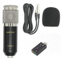 Profesyonel Kondenser Ses 3.5mm Kablolu BM800 Stüdyo Mikrofon Vokal Kayıt KTV Karaoke Mikrofon Mic Bilgisayar için Mic
